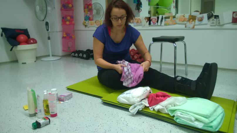 Barbora na predpôrodnom kurze